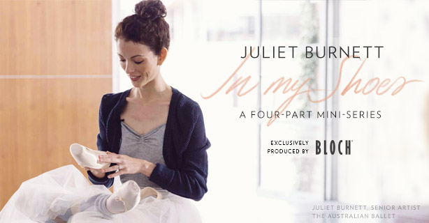 <h1>Juliet Burnett - In My Shoes</h1><p>Bloch joins Juliet in the dance studio for an intimate conversation about her relationship with her pointe shoes.</p>