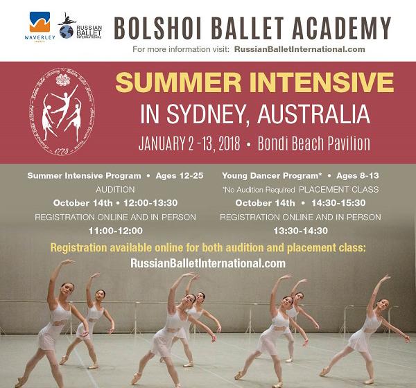 Bolshoi Ballet Academy Moscow Summer Intensive