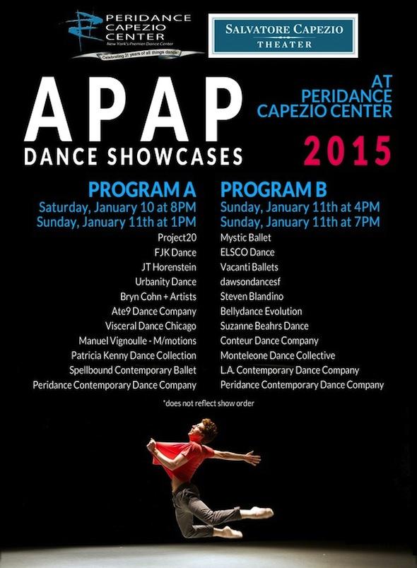 Peridance Capezio Center presents 2015 APAP Dance Showcases