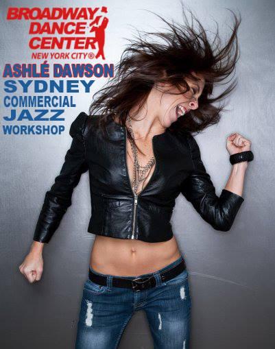 Ashlé Dawson's Broadway Dance Center Workshops in Australia