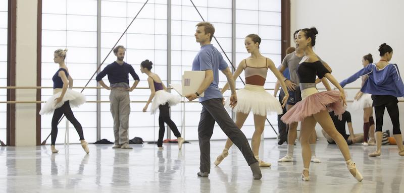 Gennadi Nedvigin rehearsing Classical Symphony at Atlanta Ballet