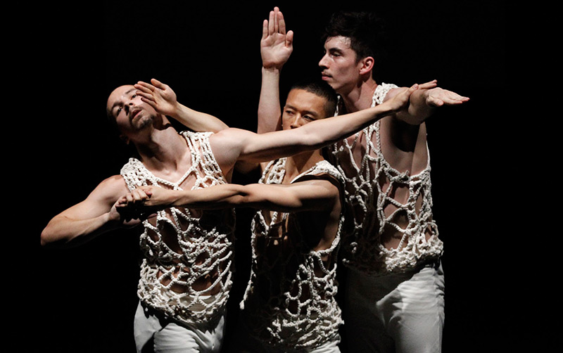 Dancers James Batchelor, Jame Vu Anh Pham and Joshua Mu in Stephanie Lake's award-winning Aorta, choreographed for Chunky Move