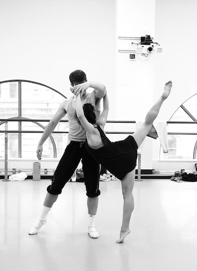 Dancers Andie Yorita and Zachary Kapeluck