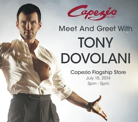 Capezio Athlete Tony Dovolani does Meet and Greet event