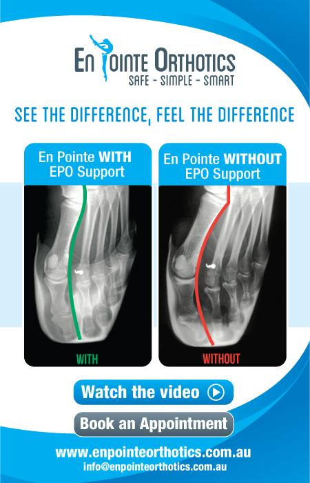 En Pointe Orthotics helps reduce injury