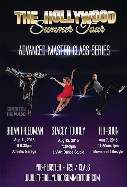 Hollywood Summer Tour Advanced Master Class Series 2015
