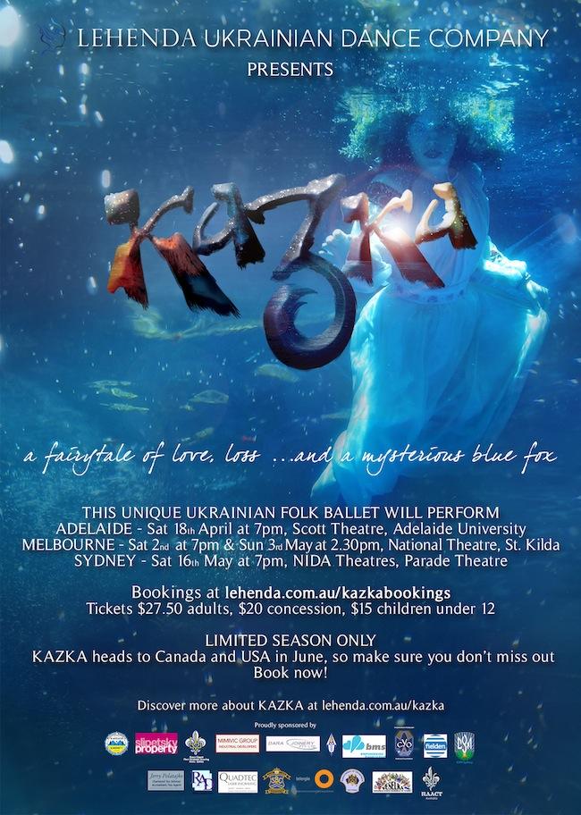 Lehenda Ukrainian Dance Co tours KAZKA