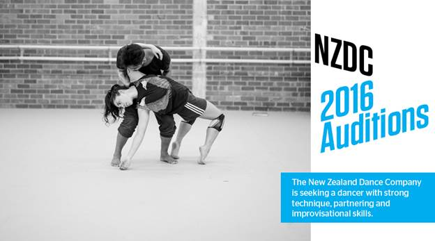 New Zealand Dance Company hosts 2016 Audition