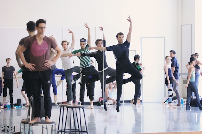 Justin Peck's brand new Debonair in rehearsal at Pacific Northwest Ballet