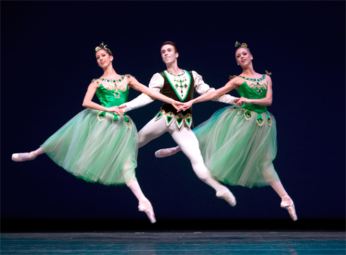 Pacific Northwest Ballet in George Balanchine's Jewels' Emeralds section