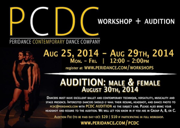 Peridance Contemporary Dance Company Workshop and Audition