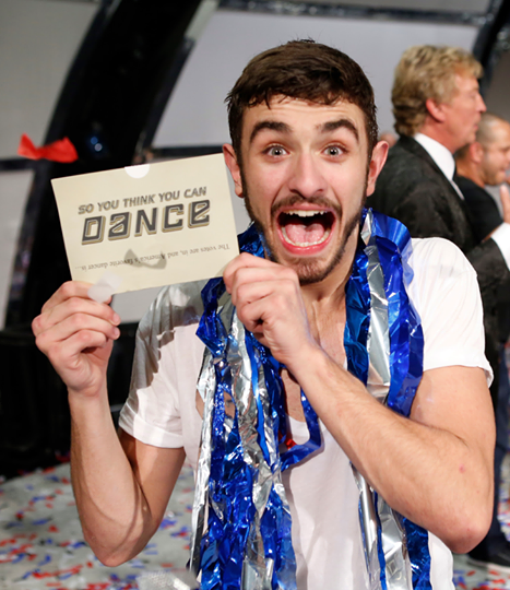 Ricky Ubeda after winning SYTYCD Season 11