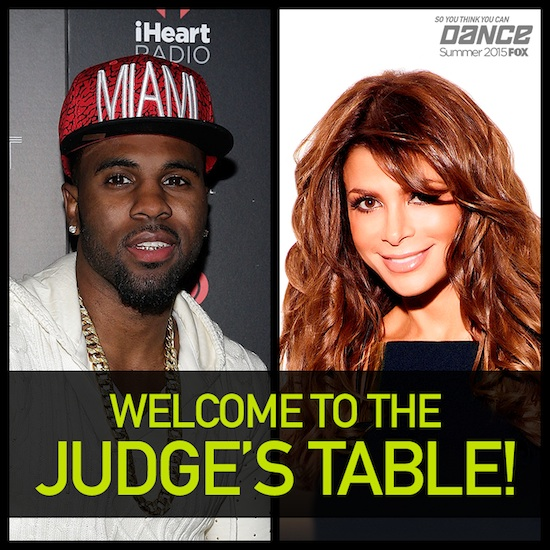 So You Think You Can Dance judges Jason Derulo and Paula Abdul