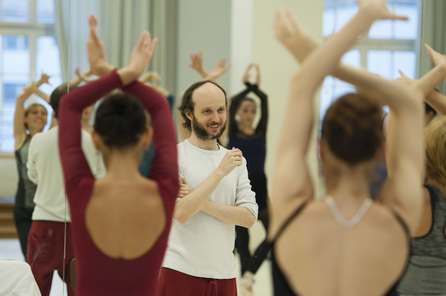 Choreographer Sidi Larbi Cherkaoui with dancers of Stuttgart Ballet