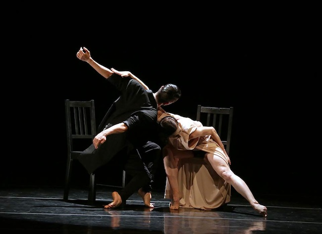 Mike Esperanza's work in performance at the Young Choreographer's Festival