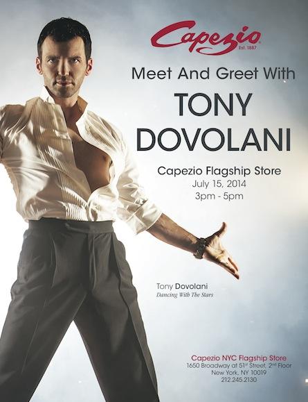 Capezio hosts Meet and Greet with ballroom dancer Tony Dovolani
