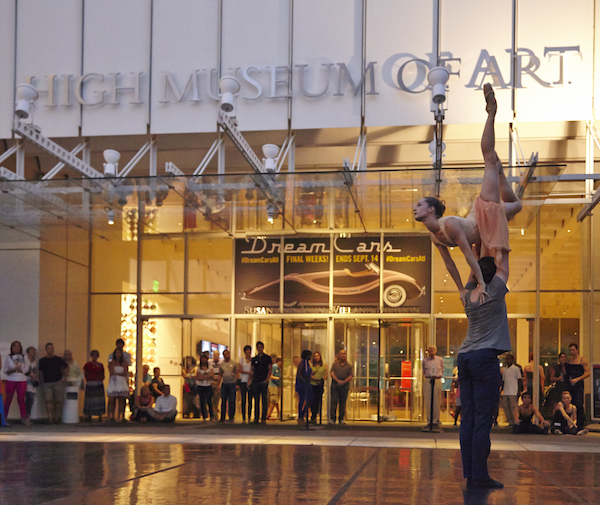 Atlanta Ballet's Wabi Sabi performing at the High Museum