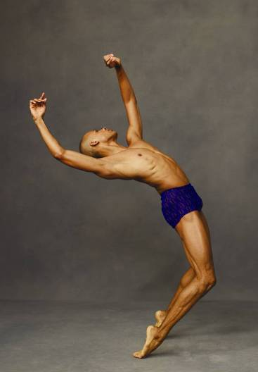 Alvin Ailey American Dance Theater's Yannick Lebrun. Photo by Andrew Eccles.