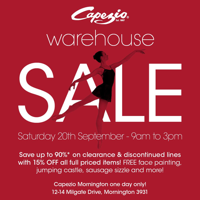 Capezio Melbourne Warehouse Sale