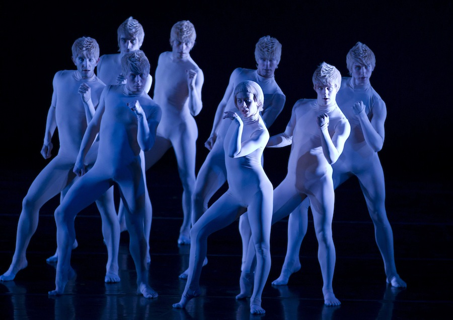 Company members of Hubbard Street Dance Chicago perform 'Too Beaucoup.'