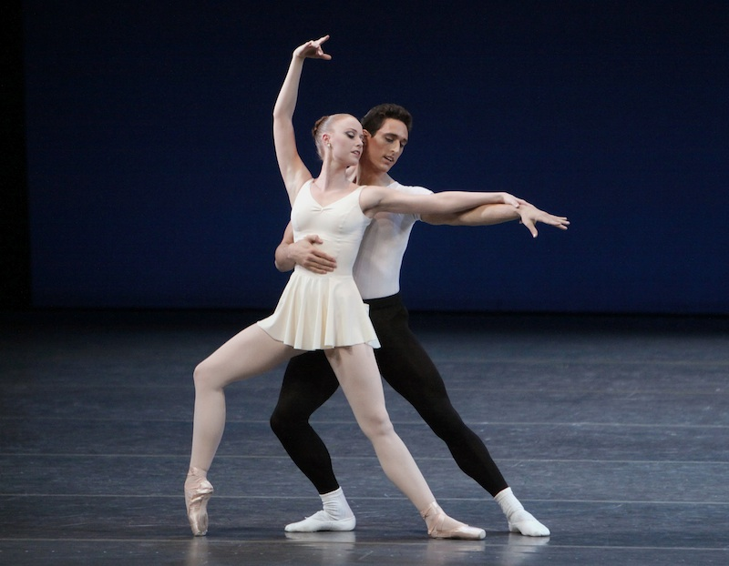 Justin Peck and Teresa Reichlen in George Balanchine's 'Concerto Barocco.' Photo by Paul Kolnik.