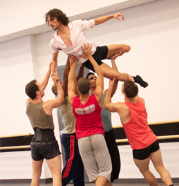 Ballet Hispanico rehearsing Edgar Zendejas' Umbral for Latin American Cultural Week 2014
