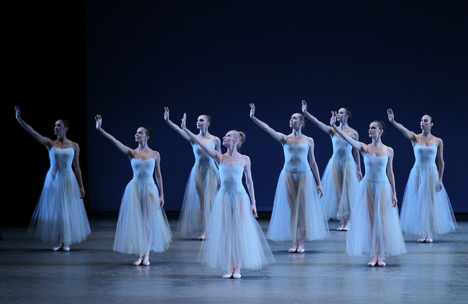 New York City Ballet in George Balanchine's 'Serenade.' Photo by Paul Kolnik.