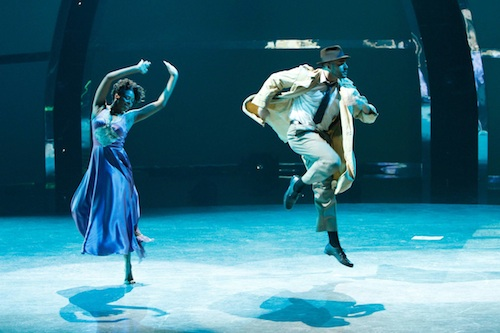 SYTYCD Contestants Jasmine Harper and Aaron Turner perform a Broadway routine