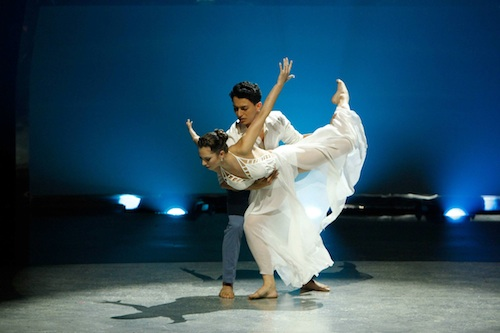 SYTYCD Contestants Makenzie Dustman and Paul Karmiryan perform a contemporary routine