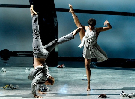 All-star Neil Haskell and top 6 contestant Jasmine Harper in a Contemporary routine