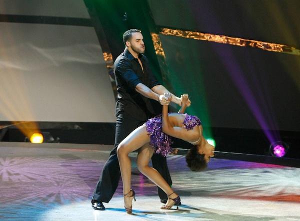 Jasmine Harper and Aaron Turner in a Dmitry Chaplin samba routine