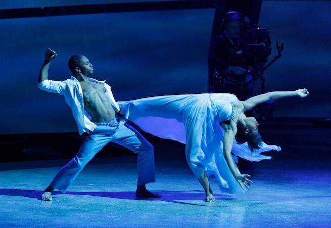 Jasmine Harper and Fik-Shun in a Travis Wall contemporary routine