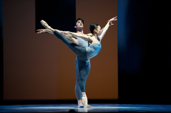 San Francisco Ballet's Frances Chung and Davit Karapetyan in Helgi Tomasson's The Fifth Season. Photo by Erik Tomasson.