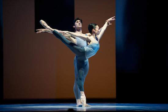 San Francisco Ballet's Frances Chung and Davit Karapetyan in Helgi Tomasson's The Fifth Season. Photo by Erik Tomasson.