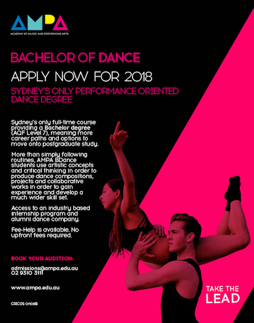 Sydney Dance Degree Program