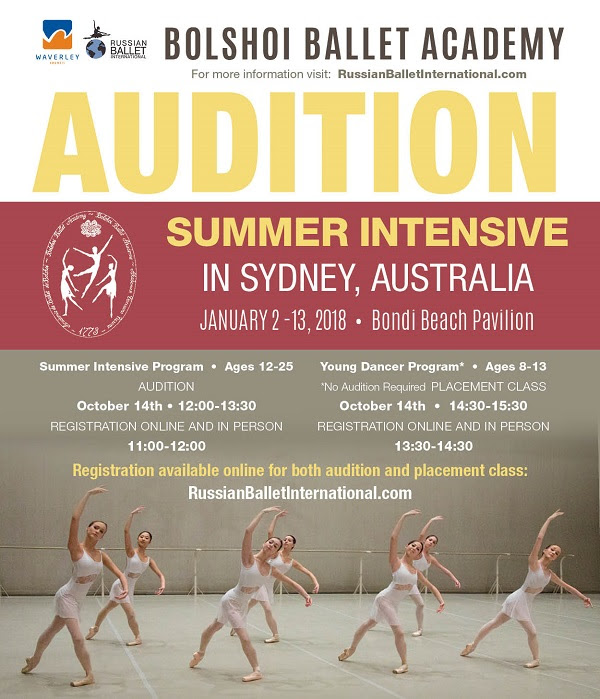 Russian Ballet International holds Australian Summer Intensive Auditions