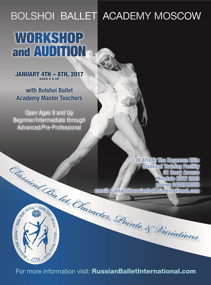 Australian audition for the Bolshoi Ballet Academy