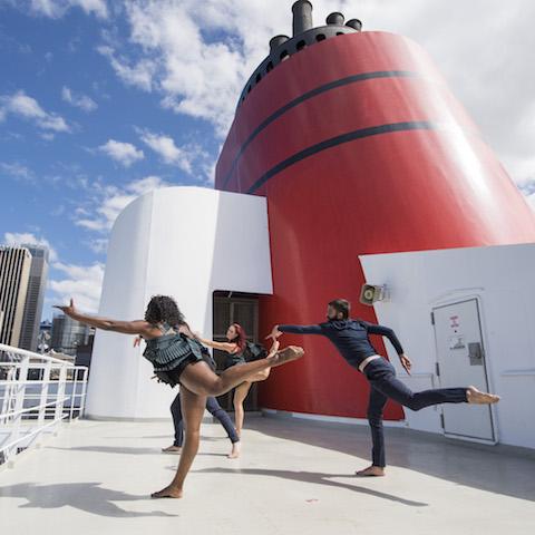 ADT dancers onboard Cunard's Queen Elizabeth