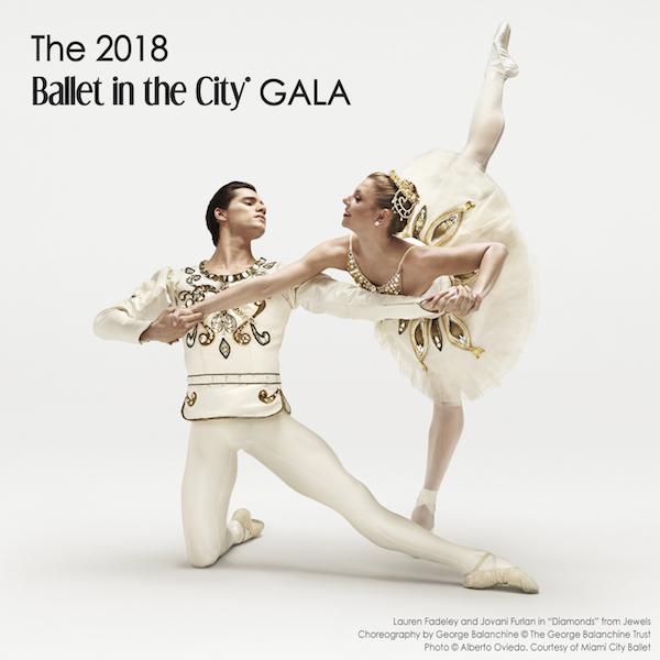 Miami City Ballet's Lauren Fadeley and Jovani Furlan in Diamonds
