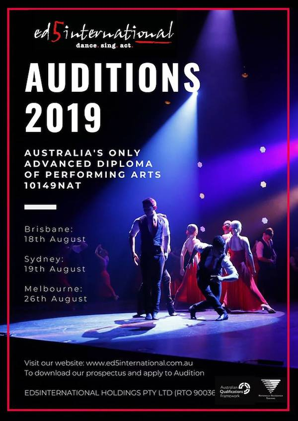 Full-time Sydney dance training 2019