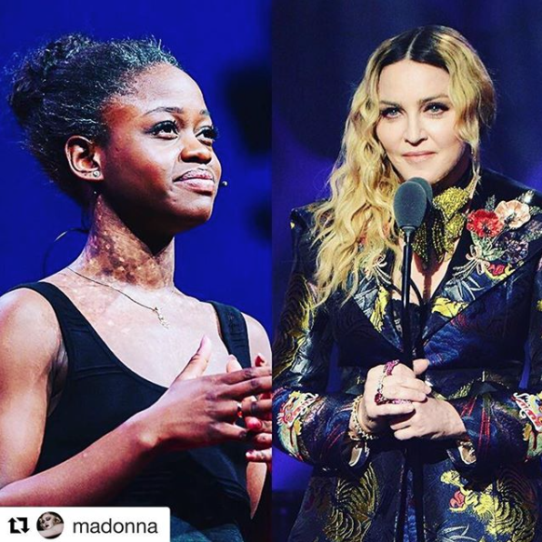 Ballerina Michaela DePrince with Madonna