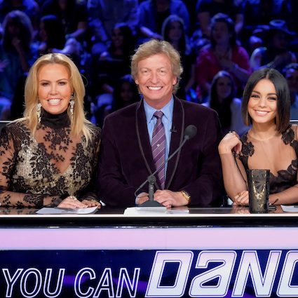 Mary Murphy, Nigel Lythgoe and Vanessa Hudgens