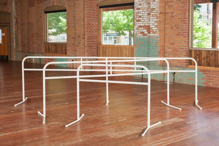 Ballet floor barres for fitness classes