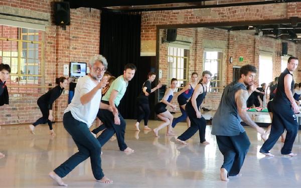 Gary Lang leads rehearsal at West Australian Ballet