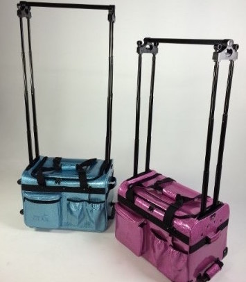 Duffel bags for dancers with racks