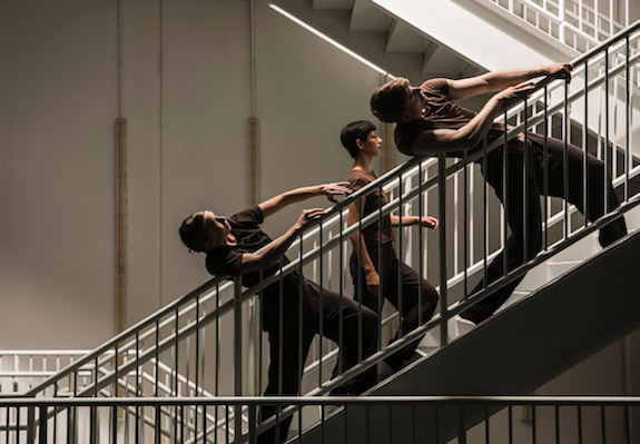 Hubbard Street dancers Kellie Epperheimer, Adrienne Lipson and Elliot Hammans in Peter Chu's 'Space, In Perspective.' Photo by Todd Rosenberg.