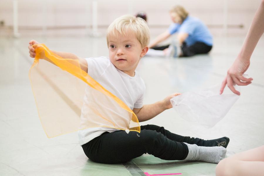 Dancer with Down syndrome in Cincinnati Ballet's Nutcracker