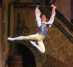ABT's newest principal Jeffrey Cirio performing as Colas in La Fille mal gardée