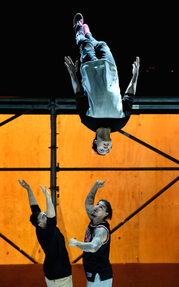 Parkour show at Sydney Opera House