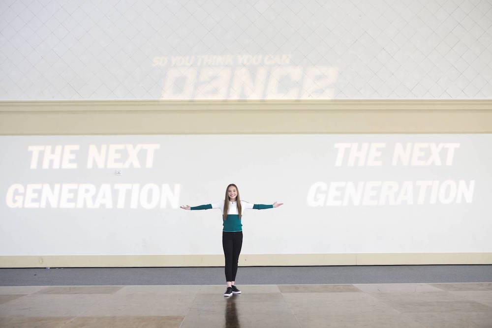 Maddie Ziegler on set at So You Think You Can Dance: The Next Generation